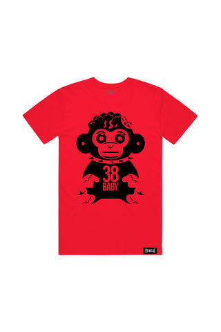 Black Monkey T-Shirt - Red