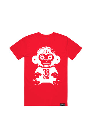 White Monkey T-Shirt - Red