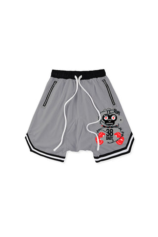 38 Baby Monkey Barbwire Short - Grey
