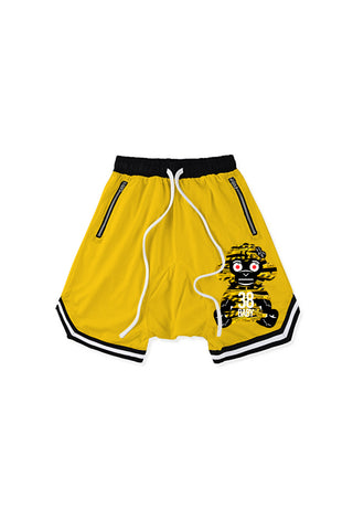 38 Baby Monkey Caution Shorts - Yellow