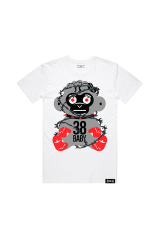 38 Baby Monkey Barbwire - White