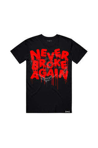 Never Broke Again Drip Spider Web - Black