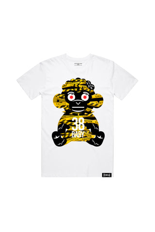 38 Baby Monkey Caution - White