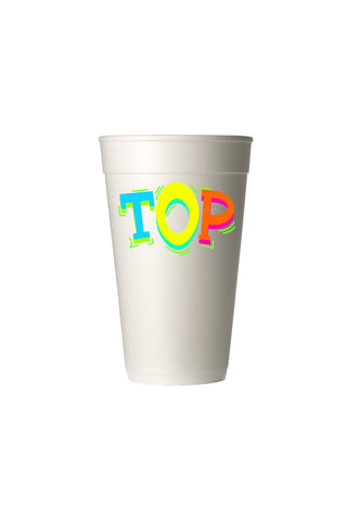Top POP Styrofoam Cup - 6 pack