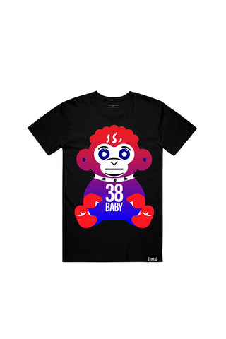 4th of July Monkey T-Shirt - Black