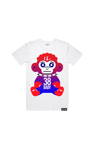 4th of July Monkey T-Shirt - White