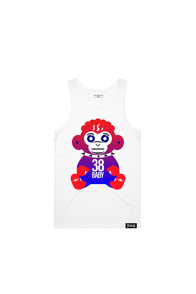4th of July Monkey Tank Top - White