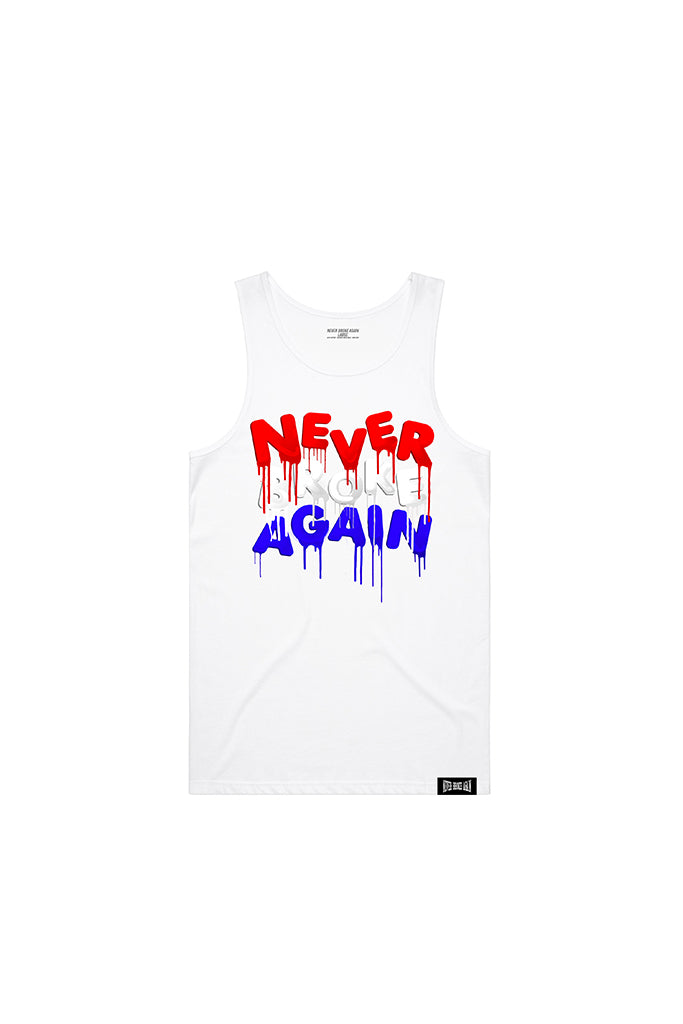 4th of July Drip Tank Top - White