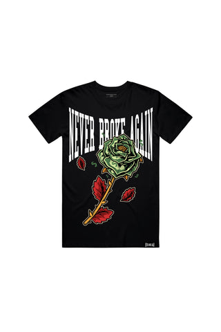 Money Rose T-Shirt - Black