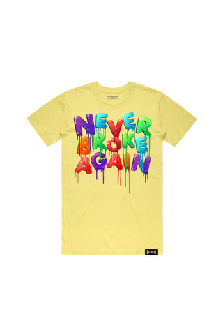 Drip Colors T-Shirt - Yellow