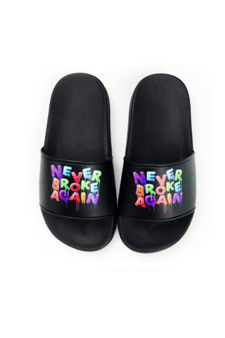 Drip Colors Slides - Black