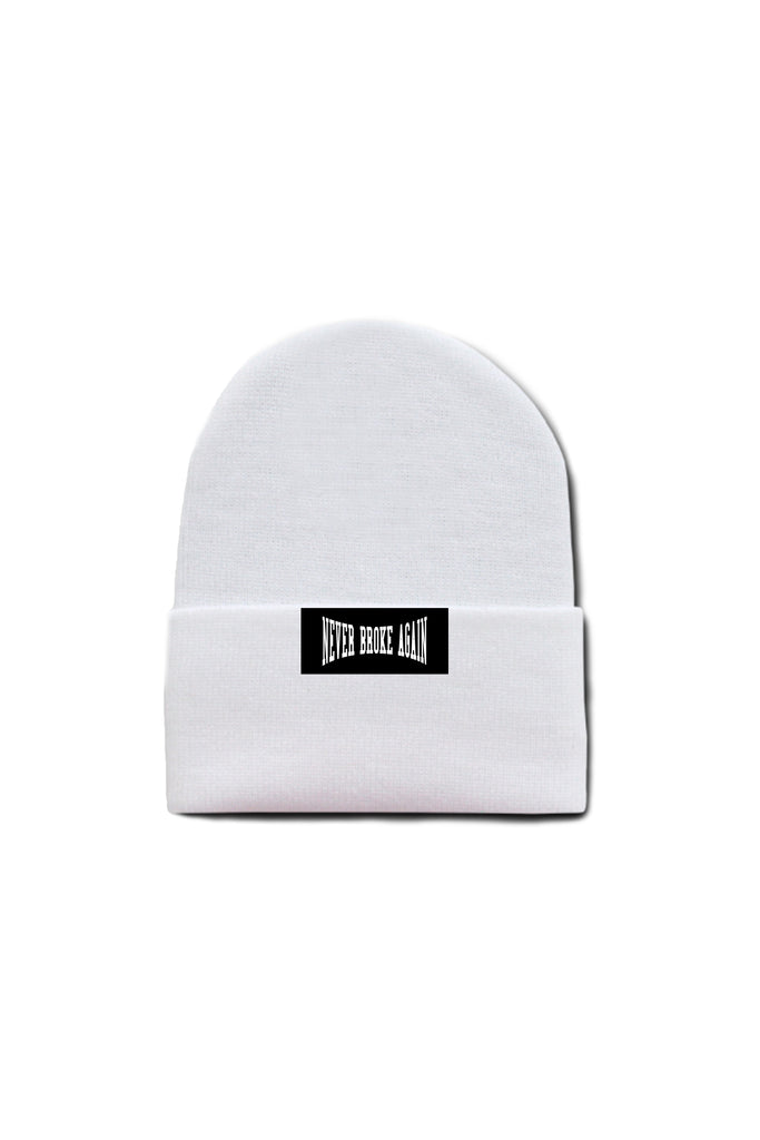 Never Broke Again Beanie - White