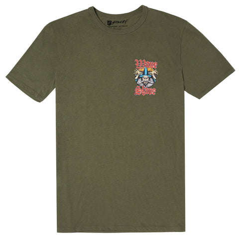 Stacey Wave Slave Tee - Army