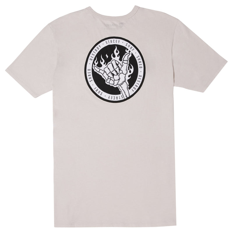 Stacey Flaming Shaka Tee - Natural