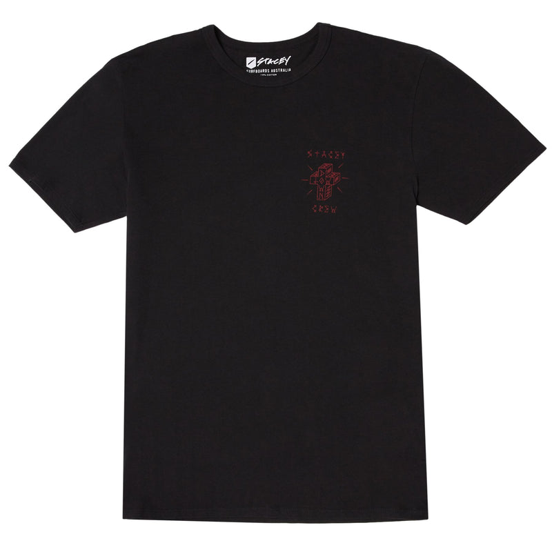 Stacey Lowdown Tee - Black w/ Red Print