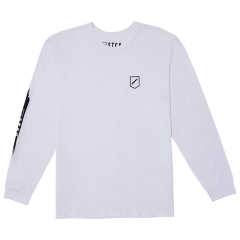SLASH 2 LONG SLEEVE TEE - WHITE