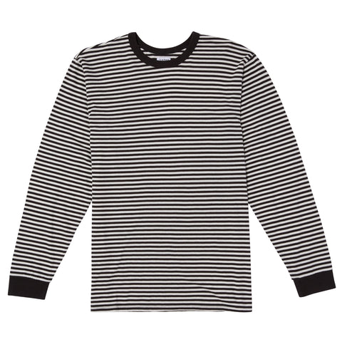 MINI FEEDER STRIPE LONG SLEEVE TEE - BLACK/WHITE
