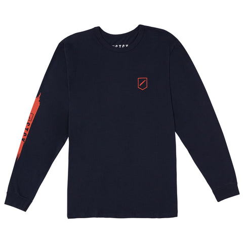 SLASH 2 LONG SLEEVE TEE - NAVY