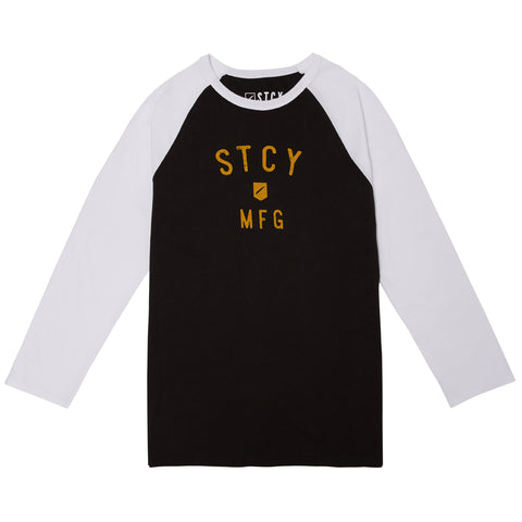 ARC 3/4 RAGLAN TEE - BLACK/WHITE