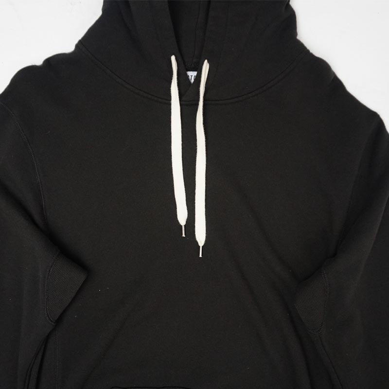 COVER UP HOODED FLEECE - BLACK