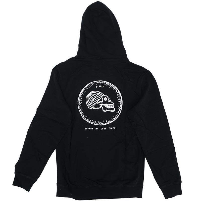 DEAD HEAD HOODED FLEECE - BLACK