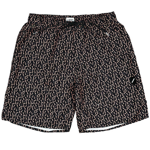 CRUISER SHORT - FONT BLACK/PEACH