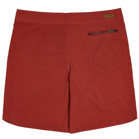 "FOUNDATION SOLID BOARD SHORT 19"" - ZOMBIE BLOOD RED."