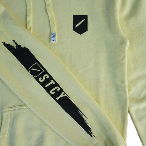 SLASH 2 HOODED FLEECE - PALE YELLOW