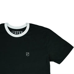 SHIELD RINGER TEE - BLACK