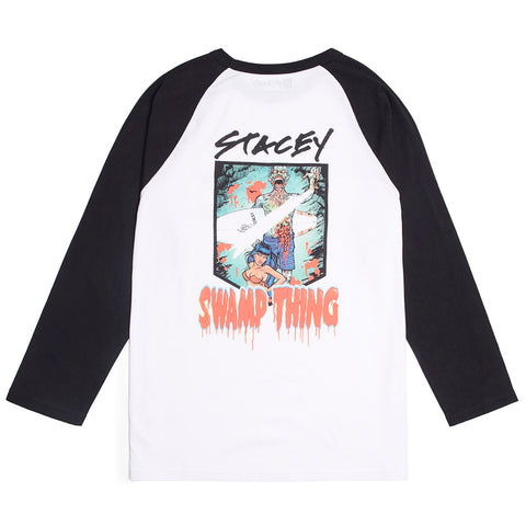 BEN BROWN SWAMP THING RAGLAN TEE - WHITE