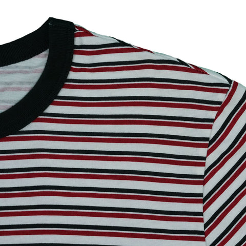 UNION STRIPE TEE YOUTH -  OFF WHITE / RED / BLACK