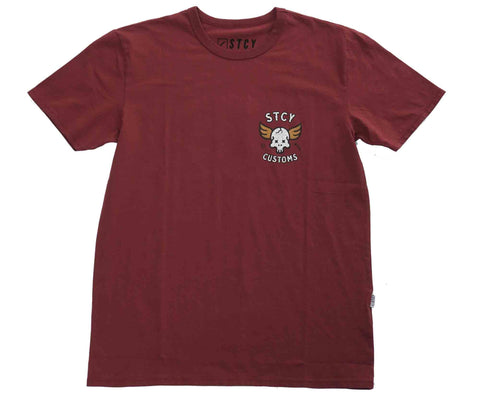 WINGED DEATH TEE - WINE