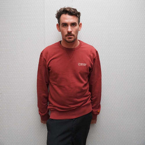 LOGO CREW FLEECE - WINE