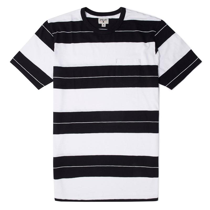 Stacey Striped Tee - Black and White