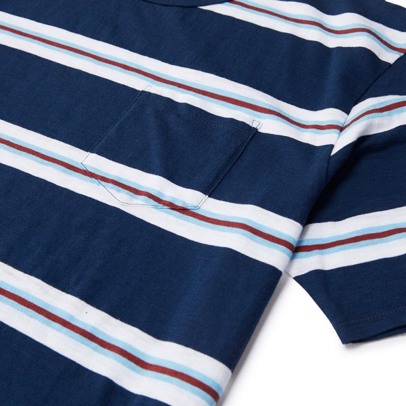 Stacey Striped Tee - Navy