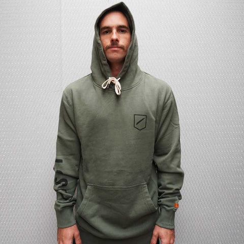 TEAM COVER UP HOODED FLEECE - ARMY