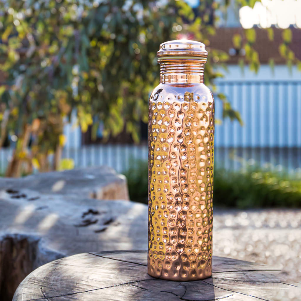 Ayurvedic Copper Bottle - Water 950ml The Naturalist You