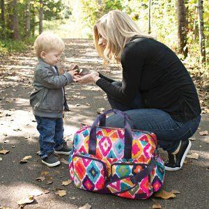 French Bull Deluxe Duffle Diaper Bag Featured on BabyCenter - Trend Lab