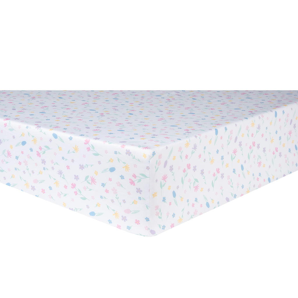 Rainbow Showers Crib Sheet