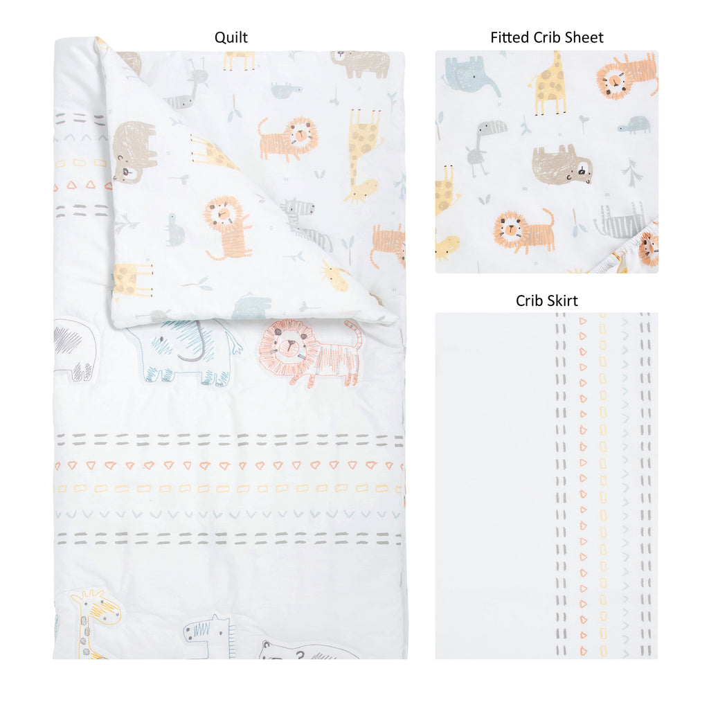Crayon Jungle 3 Piece Crib Bedding Collection by Trend Lab
