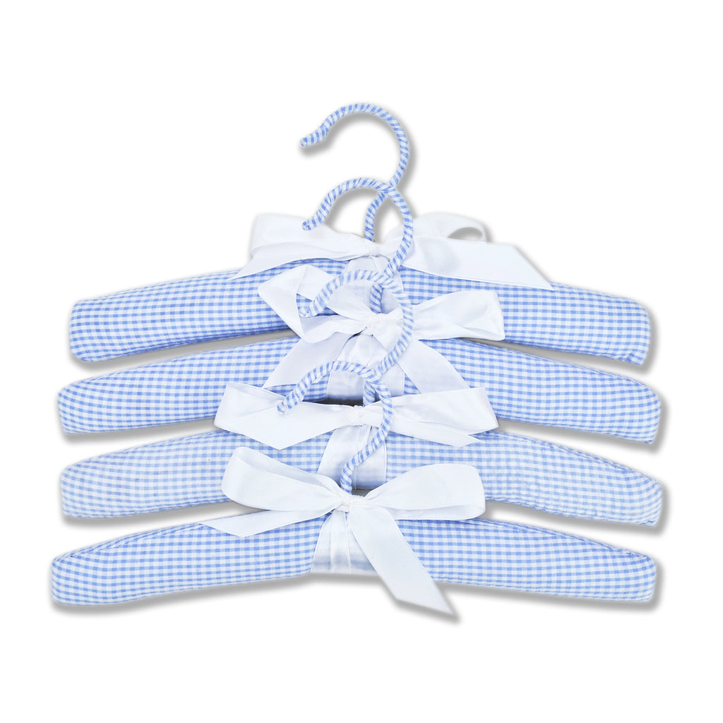 Gingham Seersucker Blue 4 Pack Hangers100001$12.99Trend Lab