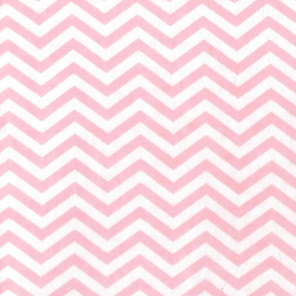 Pink Chevron Deluxe Flannel Fitted Crib Sheet