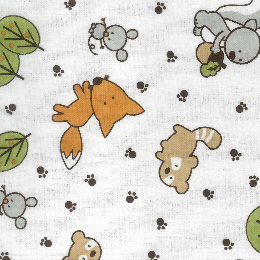 Forest Animal Deluxe Flannel Fitted Crib Sheet