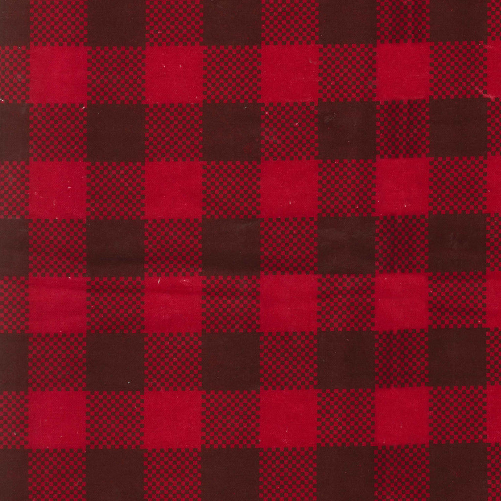 Brown and Red Check Deluxe Flannel Fitted Crib Sheet
