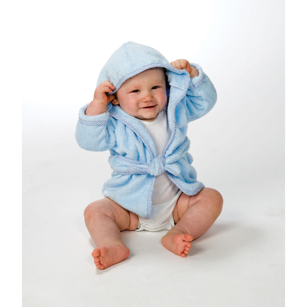 Cotton Terry Infant Robe-Blue