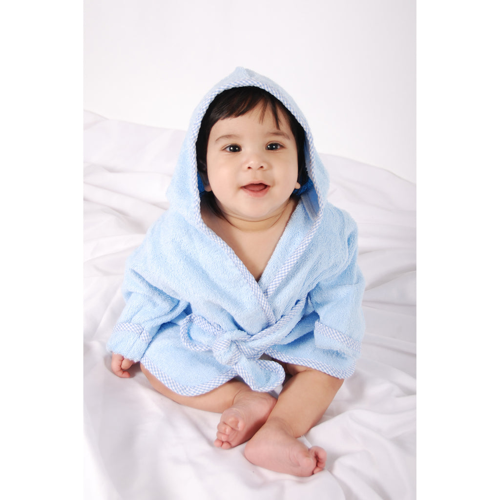Cotton Terry Infant Robe-Blue Trend Lab, LLC