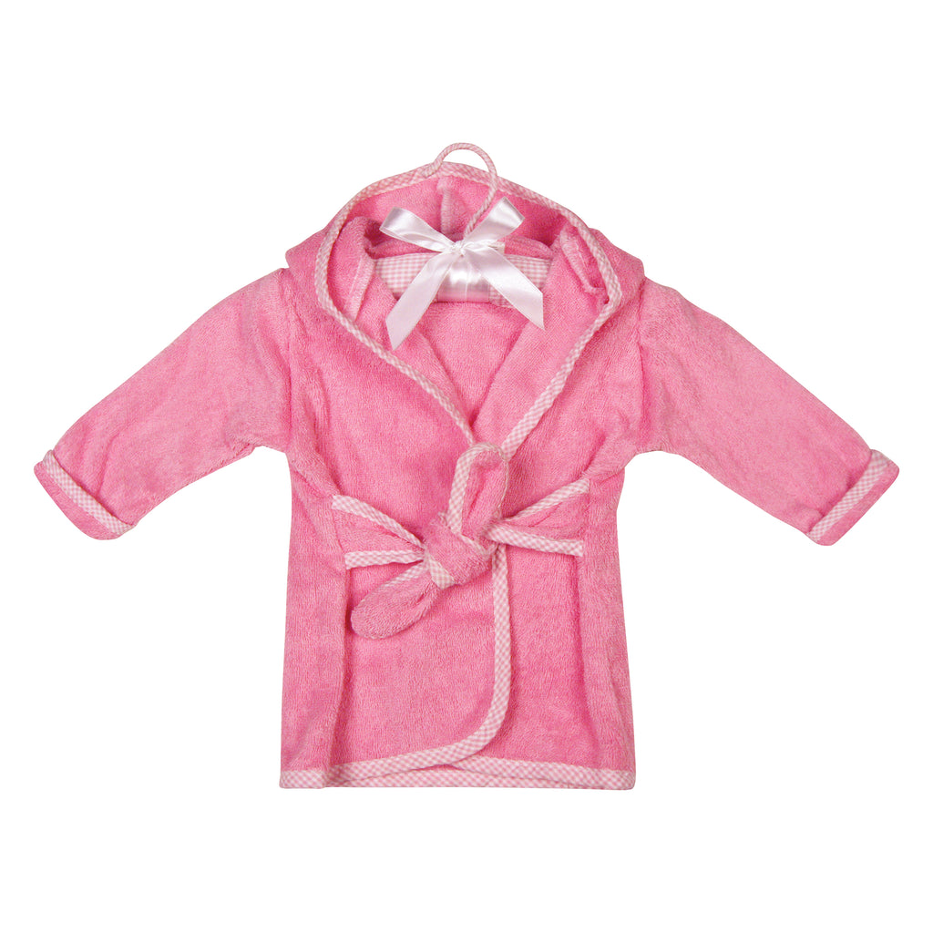 Cotton Terry Infant Robe - Pink