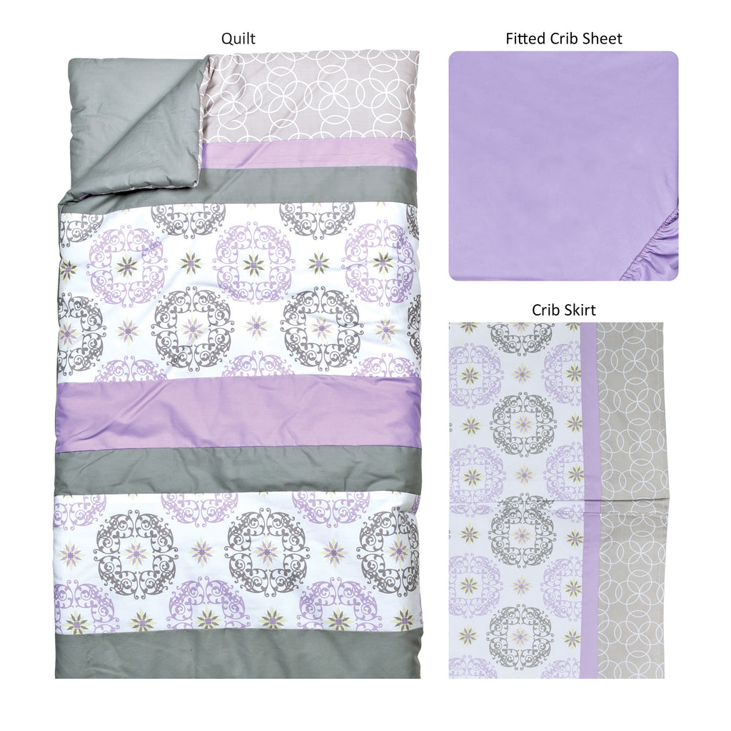 Florence 3 Piece Crib Bedding Set100205$79.99Trend Lab