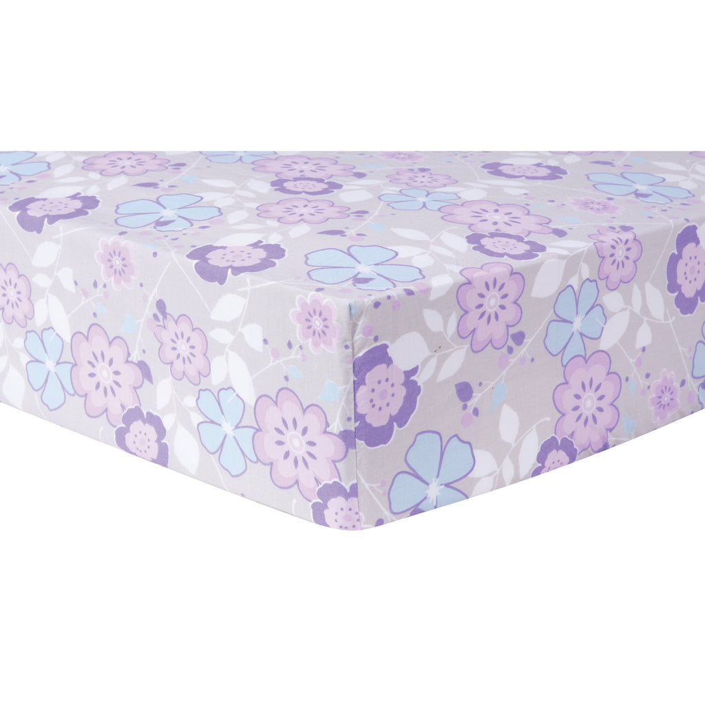 Grace Floral Fitted Crib Sheet Trend Lab, LLC