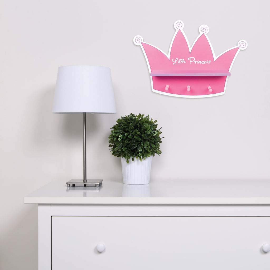 Tiara Shelf With Pegs